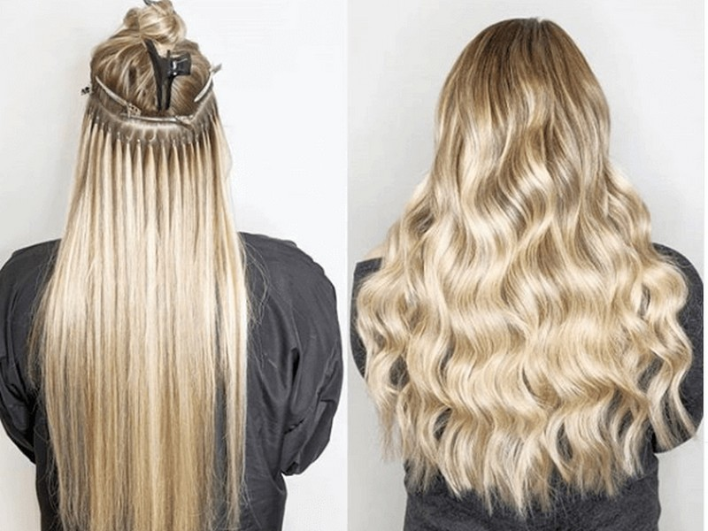 Micro-bead/Micro-Ring Hair Extensions - No-Damage Hair Extensions For Thick Hair.