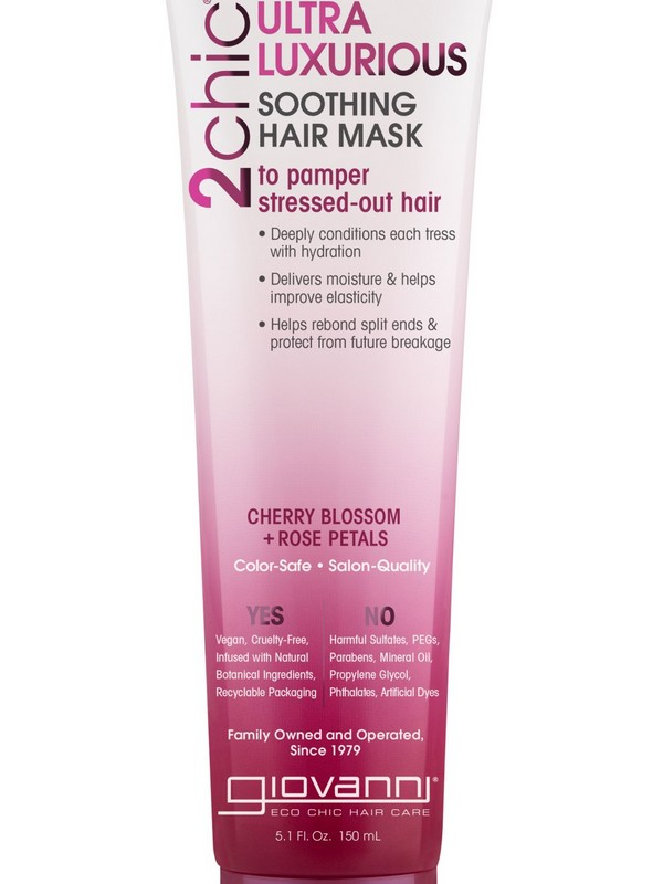 Giovanni 2chic Ultra-Luxurious Soothing Hair Mask - Hair Masks For Curly Hair That Is Heat Damaged