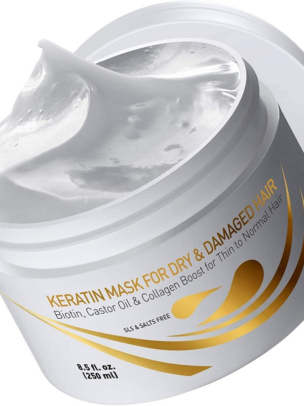 Vitamins Keratin Mask For Dry & Damaged Hair - Nourish And Repair Hair Masks For Fine Hair