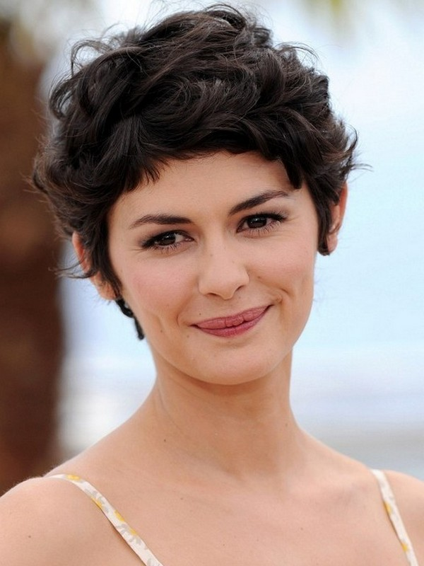 The Curly Pixie - Cute Hairstyles For Round Face