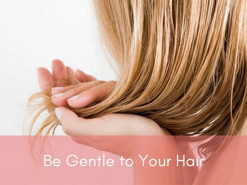 Tip #4 To Care For Your Heat Damaged Hair: Be Gentle