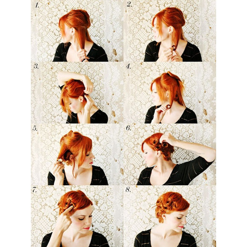 How To Recreate The Heatless Vintage Pin Curls