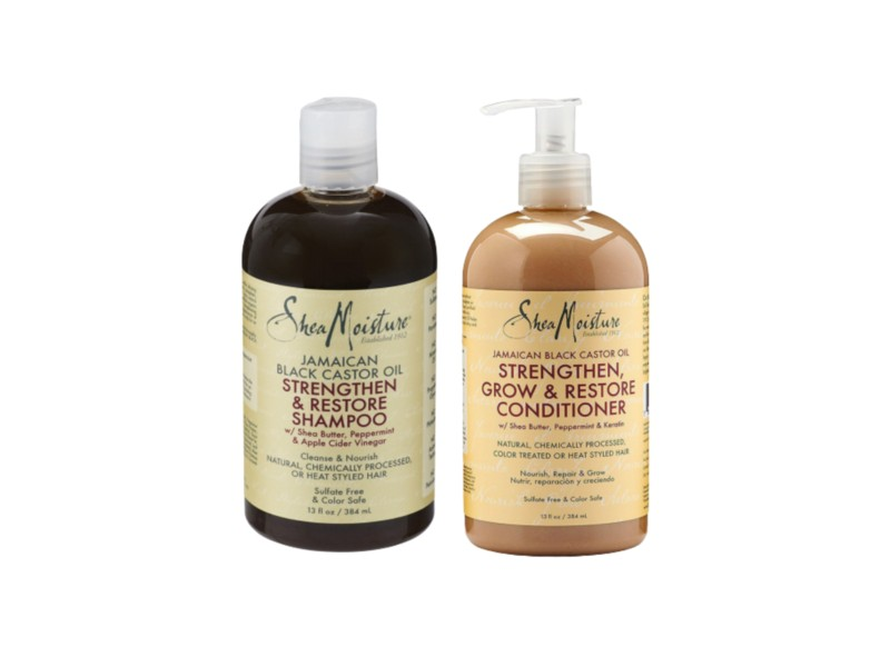 SheaMoisture Jamaican Black Castor Oil Peppermint Shampoo and Conditioner Pack - Shampoo And Conditioner Combos For Type 4 Curls