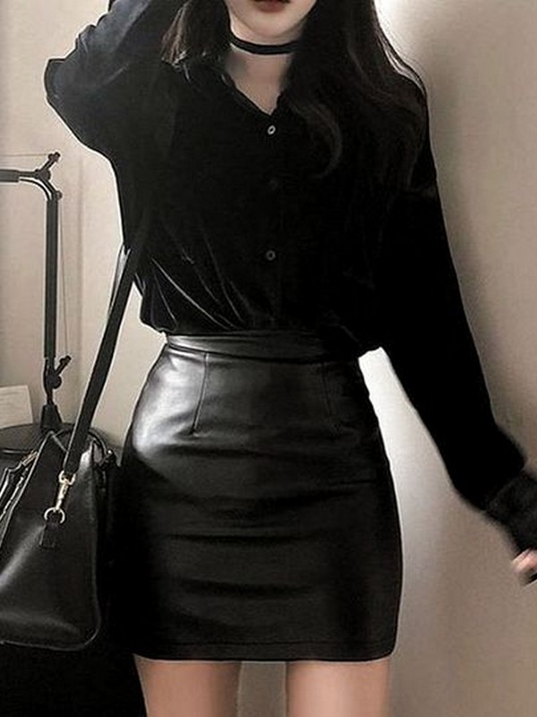Skirt With Matching Color Top