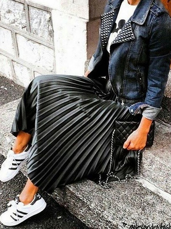 Skirt With Sneakers