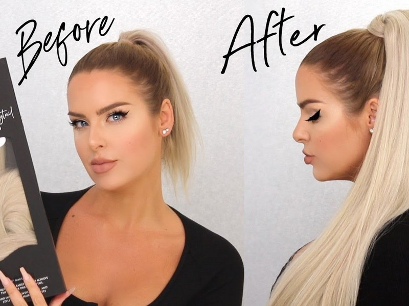Slick High Ponytail. - Chic Summer Hair Extension Styles.