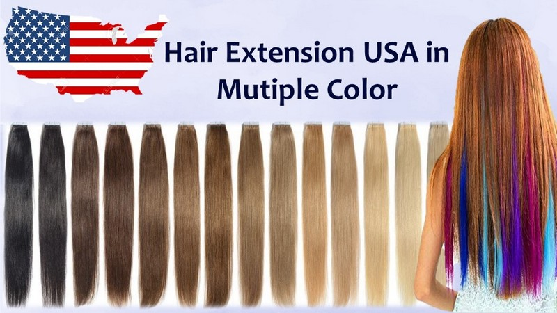 USA Hair Extension in Mutiple color