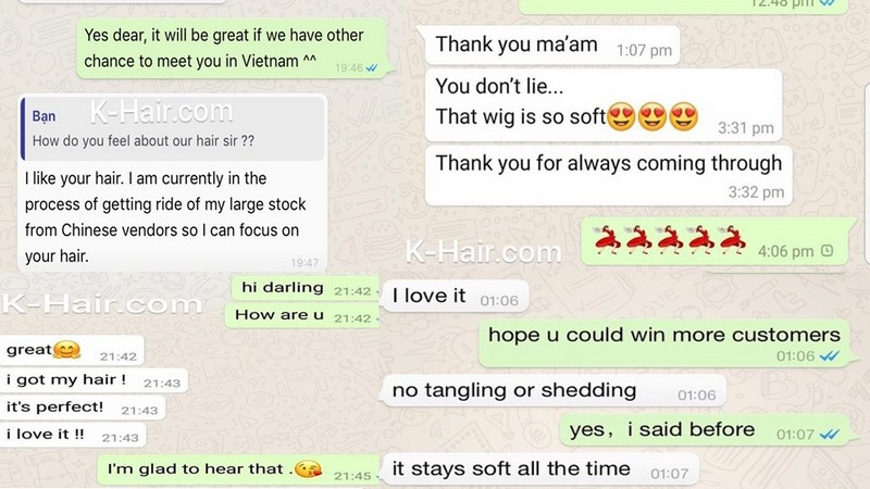 Feedback of customer about Vietnamese Hair Factory