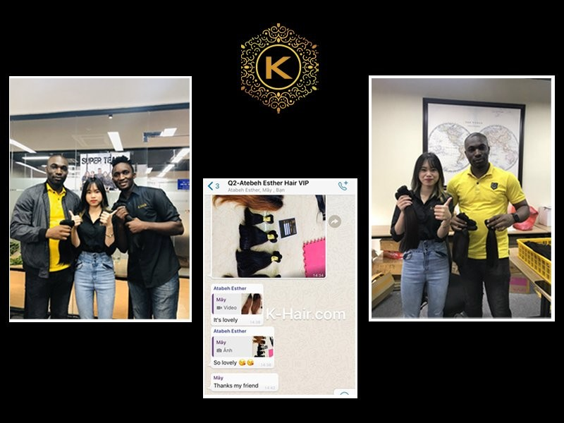 K-Hair Factory with customers